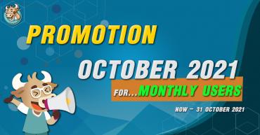 Promotion Buy 1 Month Get 1 Week for October 2021!